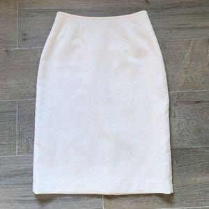 Le Suit White Pattern Midi Skirt